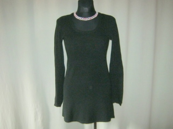 czarna sukienka tunika 38