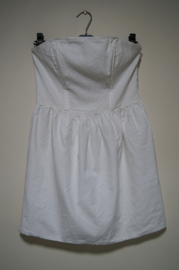 biała sukienka S M L rozkloszowana tulipan gorset...