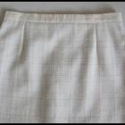 SIGMA spódnica ołówkowa ecru 40 XL z podszewką len