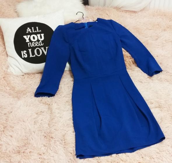 Kobaltowa sukienka S...