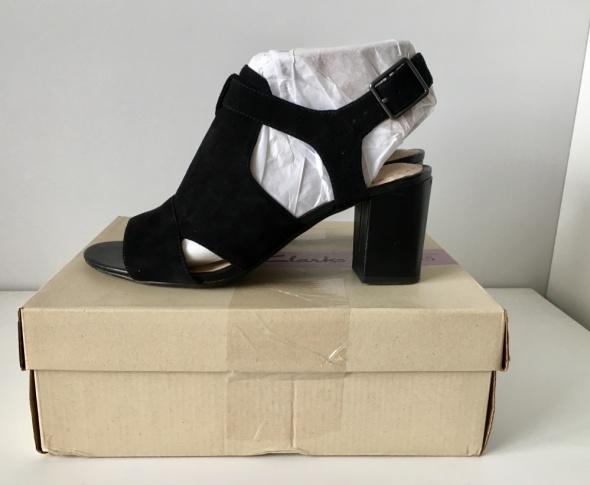 sandały skórzane 39 czarne