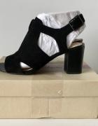 Czarne botki sandały clarks skórzane 39 40...