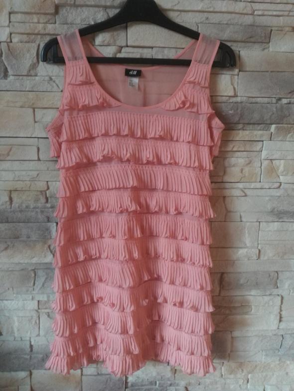 Suknie i sukienki H&M sukienka z falbanami r38