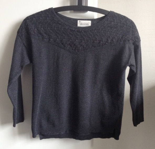 ZARA Kids sweter czarny 9 10 lat 140 cm stan DB
