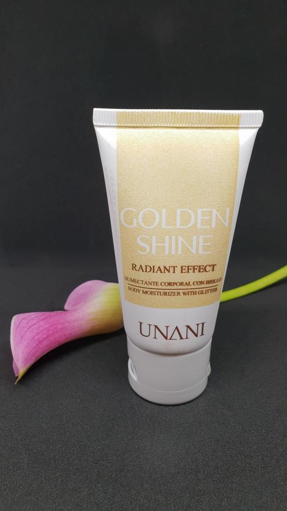 UNANI Golden Shine Jedwabiste mleczko do ciała z drobinkami 60 ml