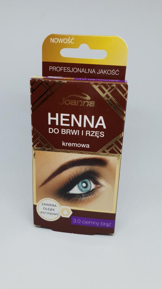 Joanna Henna do Brwi i Rzęs 3 Ciemny Brąz