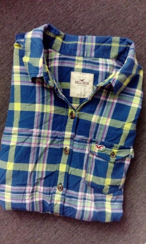 Koszula hollister krata bawełna Abercrombie&fitch w kratkę