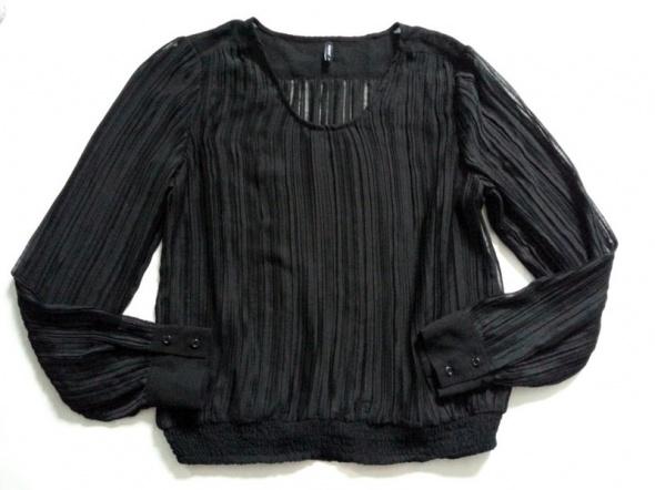 czarna bluzka plisowana szyfon B Young 42 XL...