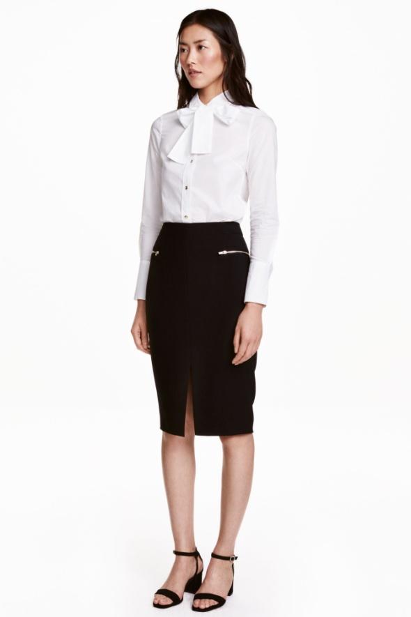Spodnica ołówkowa H&M czarna elegancka XS