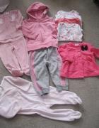 zestaw ubranek dla dziewczynki 68 adidas next carters 10szt...