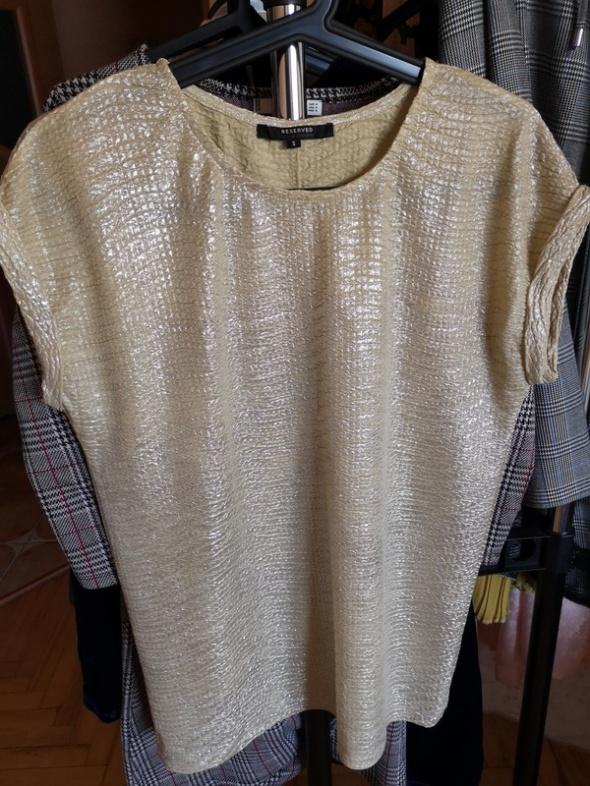Zlota błyszcząca bluzka Reserved