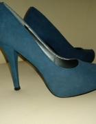 Niebieskie szpilki r 40