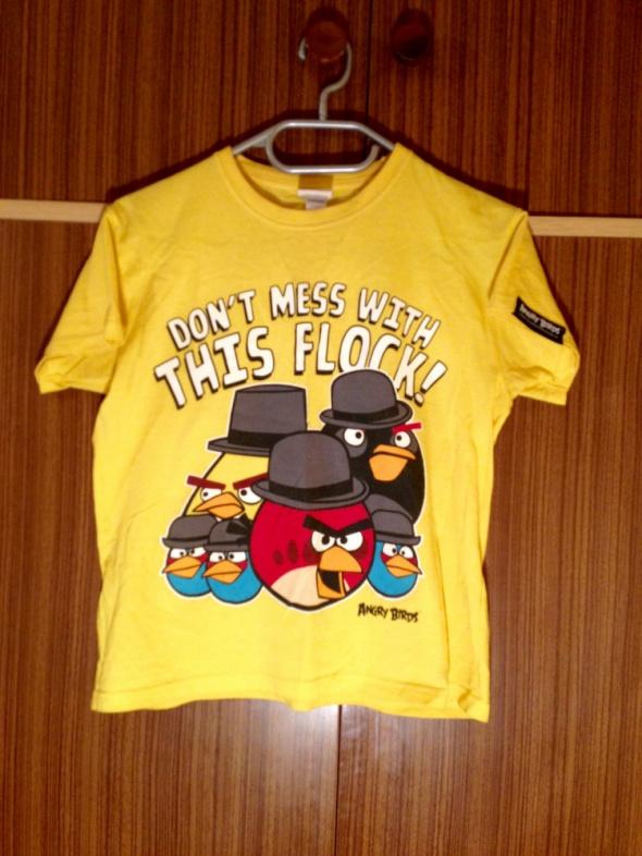Angry Birds tshirt żółty koszulka XS S M 34 36 38...