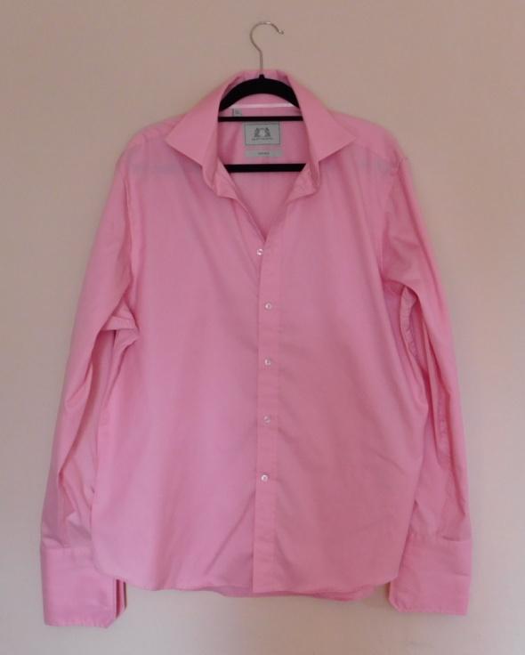Next różowa koszula męska spinki XL 17