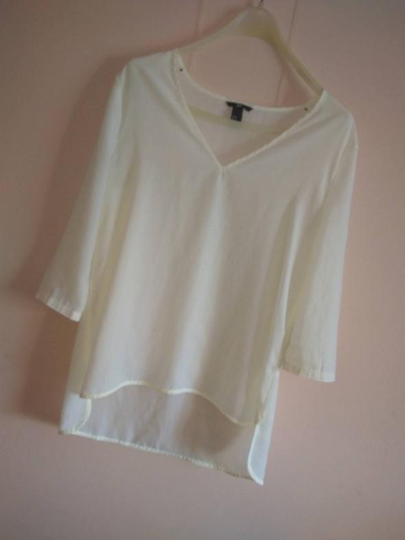 Bluzki Biała mgiełka H&M