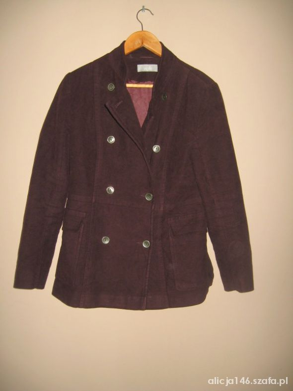 Wallis śliwkowy płaszcz na jesień 40...