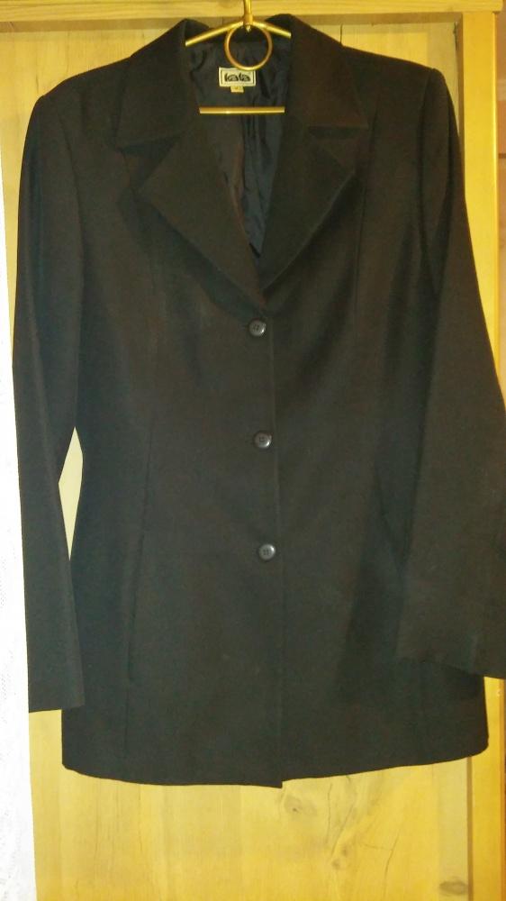 Komplet czarny marynarka spodnie spódnica...
