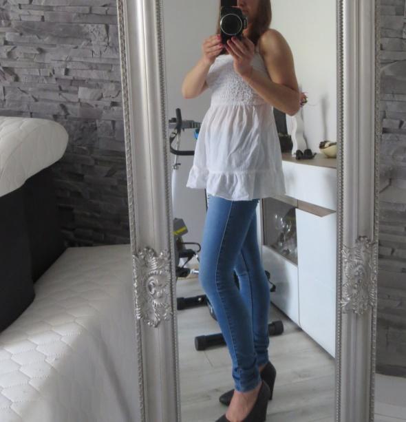 jasne spodnie jeansy slim only...