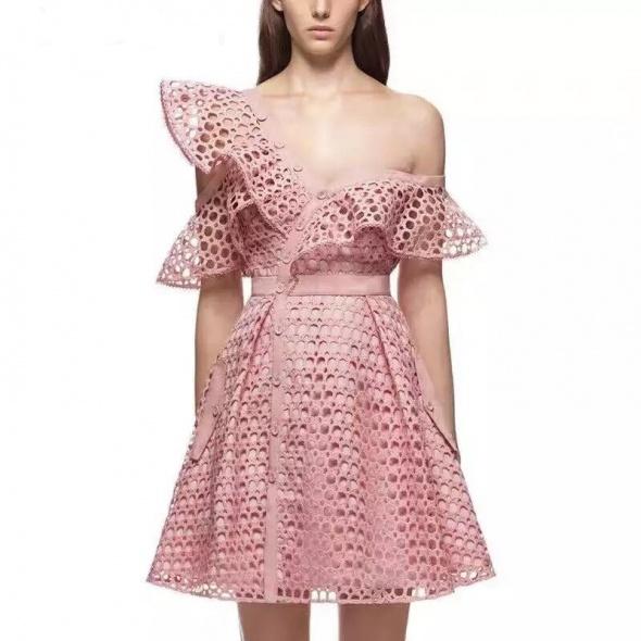 Letnia koronkowa sukienka gwiazd w 3 kolorach