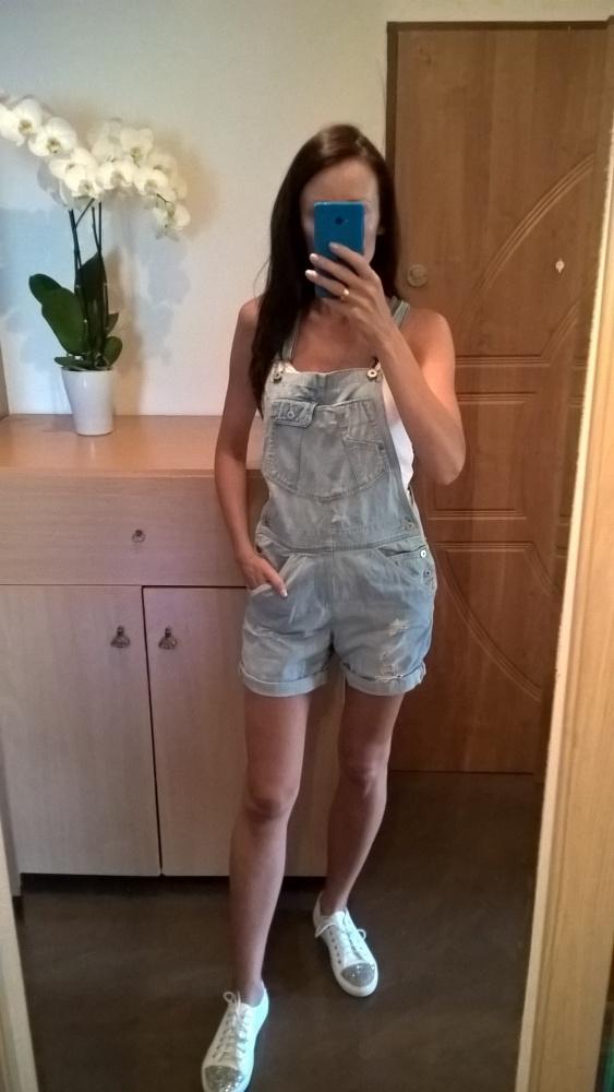 Jeansowe ogrodniczki H&M rozm S M