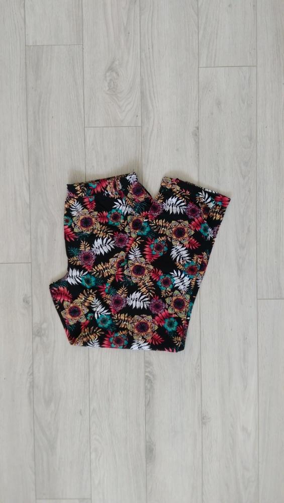 Spodnie luźne alladyny haremki NOWE kwiaty M L...
