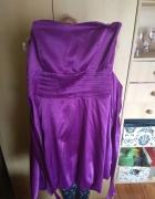 Fioletowa sukienka bombka 36