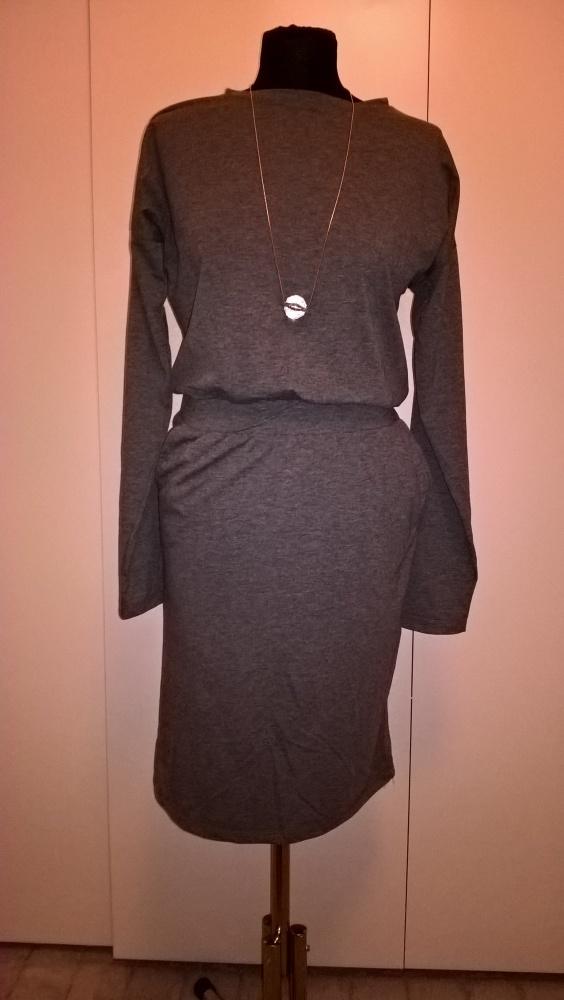 Sukienka szary melanż S...
