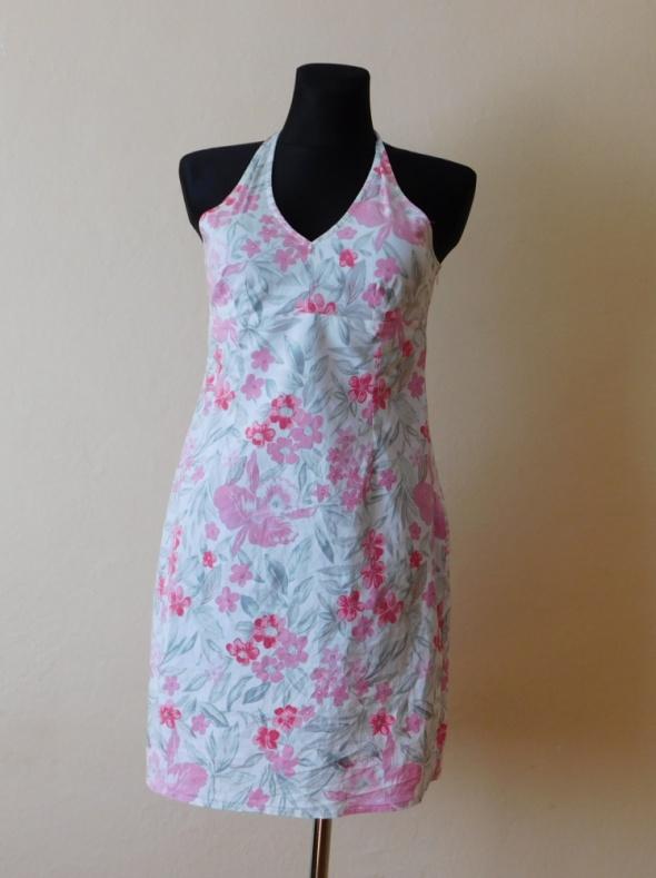 a123522aa4 Papaya sexy letnia sukienka biała kwiaty 40 42 w Suknie i sukienki ...