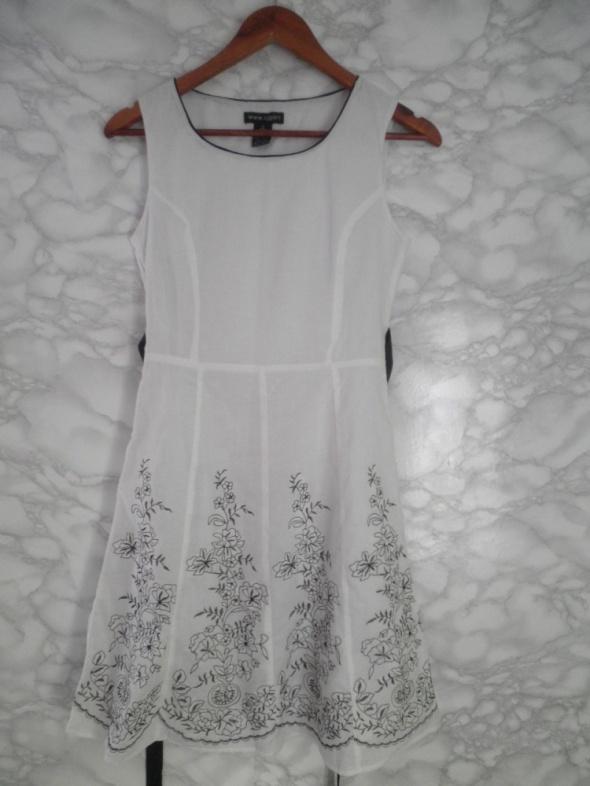 f922afc4b87527 Suknie i sukienki Cjgart biała bawełniana sukienka w kwiaty haftowana  wyszywana 36 S