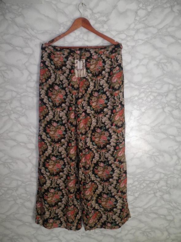 Alice&You nowe spodnie hippie w kwiaty lata 70 te szerokie nogawki 42