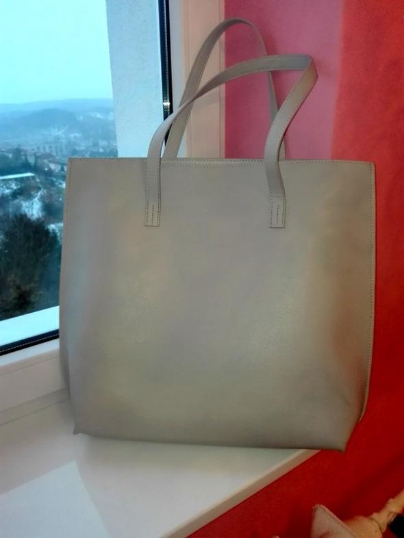 Szara torebka shopper bag accessorize...