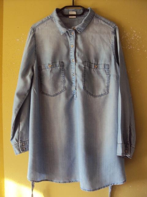 jeansowa tunika koszulowa