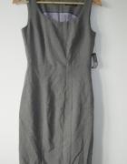 Nowa szara ołówkowa sukienka elegancka S