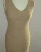 Nowa sukienka marszczona cielista Pretty Girl...