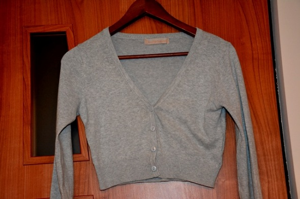 Bolerko S siwe sweterkowe
