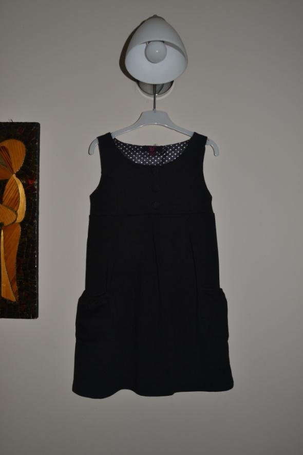Sukienka galowa czarna 7 8 lat 122cm 128cm