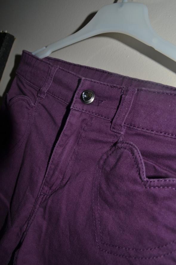 H&M spodnie śliwka 128cm 7 8 lat