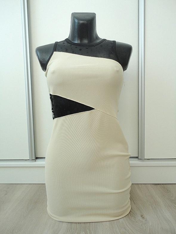 super dopasowana sukienka z wstawkami XS S hot