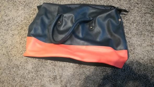 Granatowo czerwona duża torba A4 Avon...