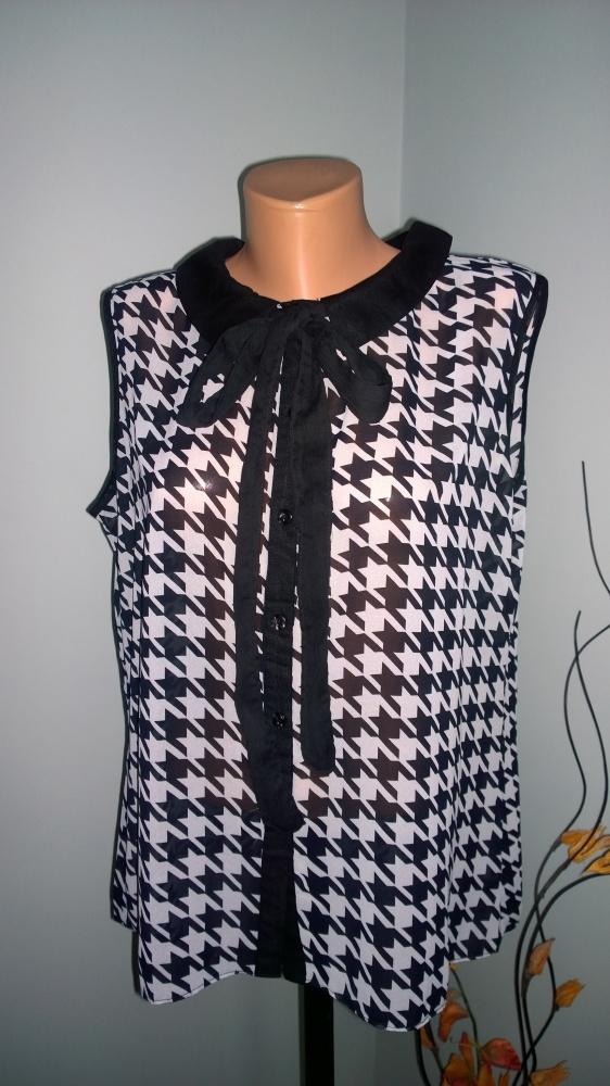 bluzka black white