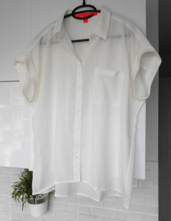 Mango koszula biała bluzka oversize...