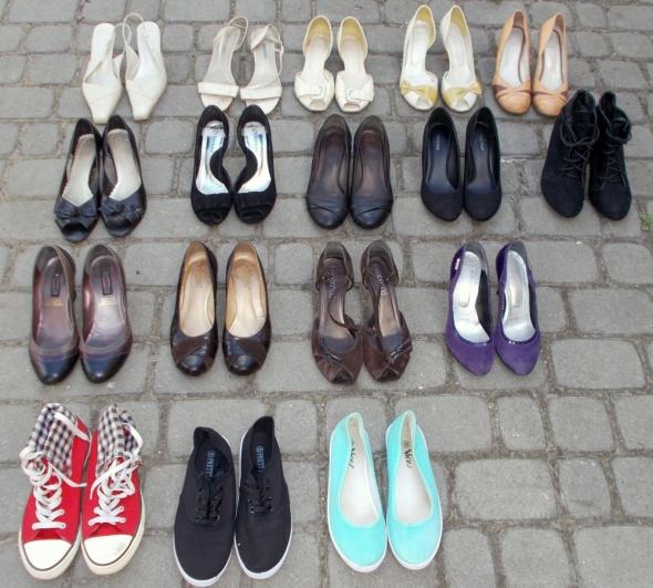 Buty używane czółenka trampki botki