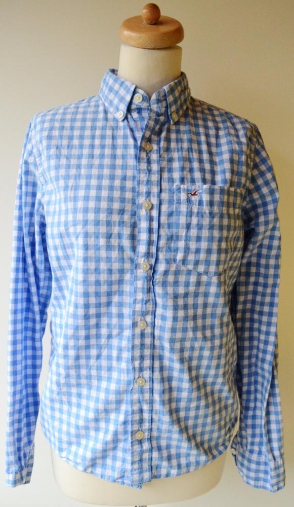 Koszula S 36 Niebieska Hollister Kratka Szachownica