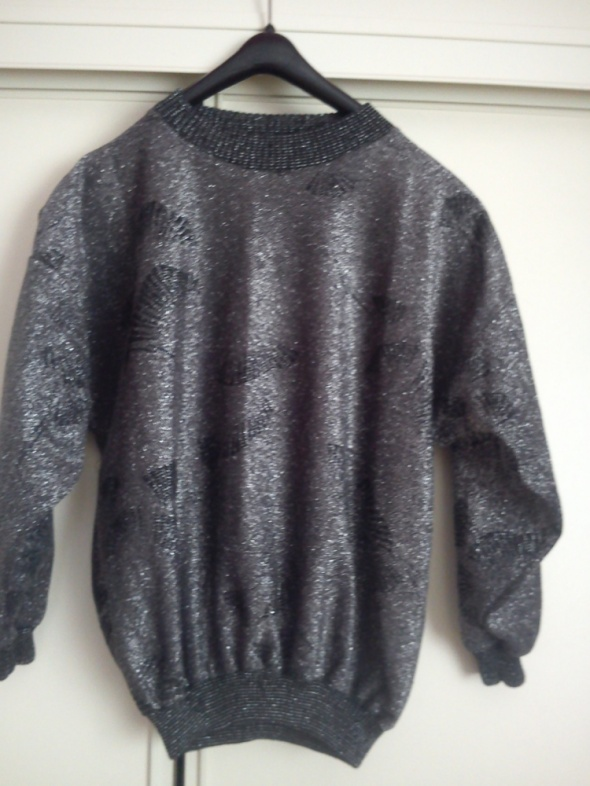 Czarno srebrna melanżowa bluzka