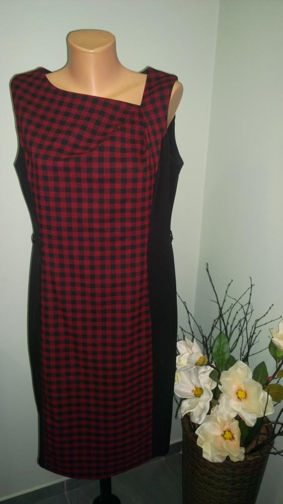 sukienka w kratkę 42 44
