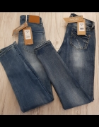 Spodnie rurki jeansy XS i S...