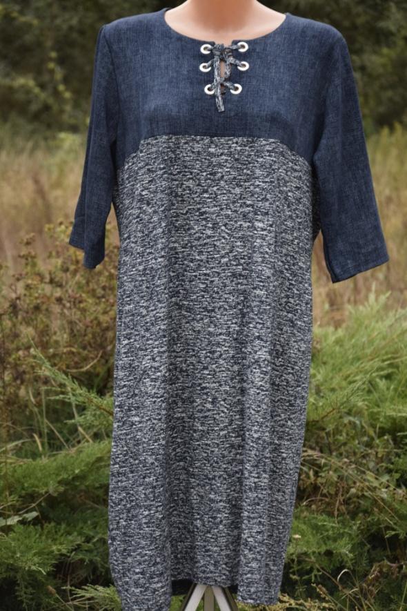 Nowa sukienka sznurowany dekolt