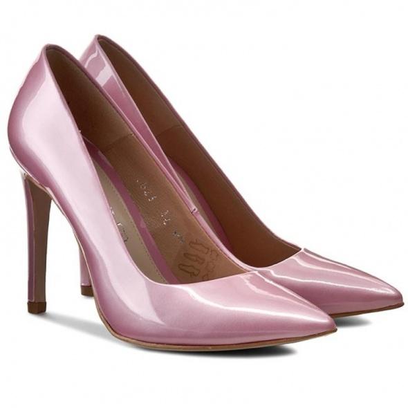 Szpilki buty na obcasie perłowy róż Baldaccini...