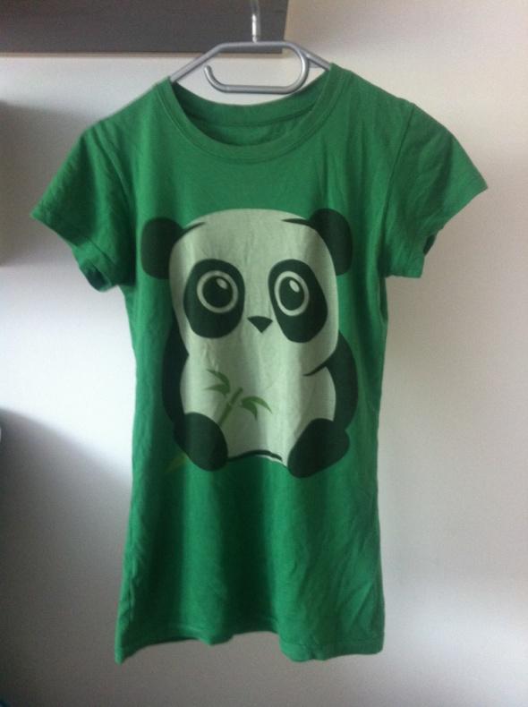 Komfortowa koszulka z nadrukiem motywem panda s 36