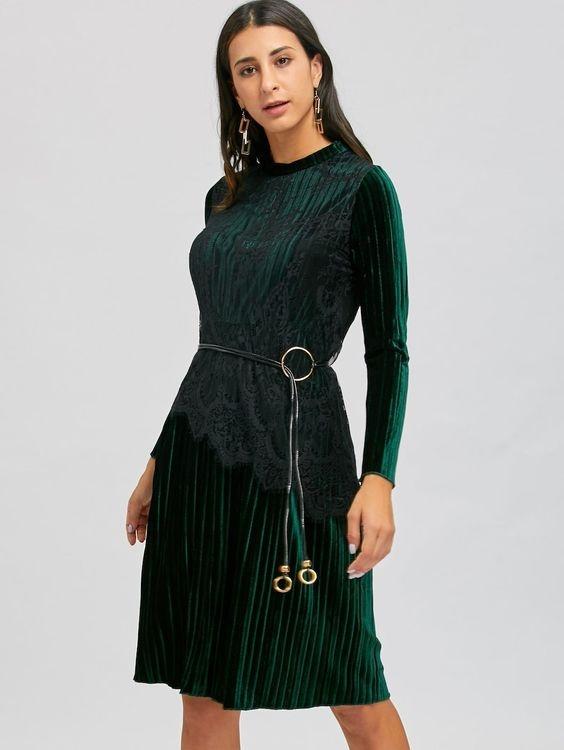 Koronkowa plisowana sukienka Ideał...